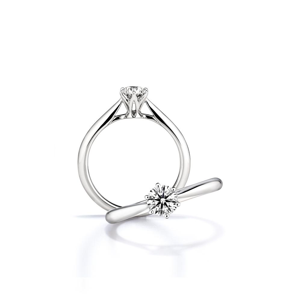 鑽戒款式 - 經典單鑽「站立爪」設計1