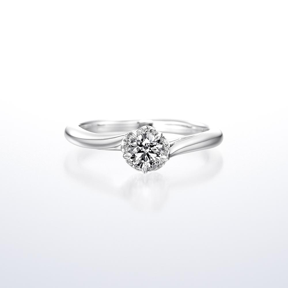 鑽石戒台樣式 - 波浪款