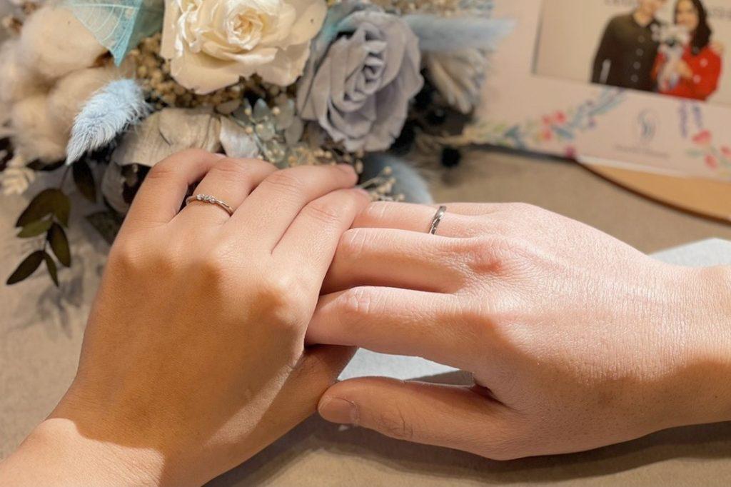 結婚對戒不一定要購買同系列