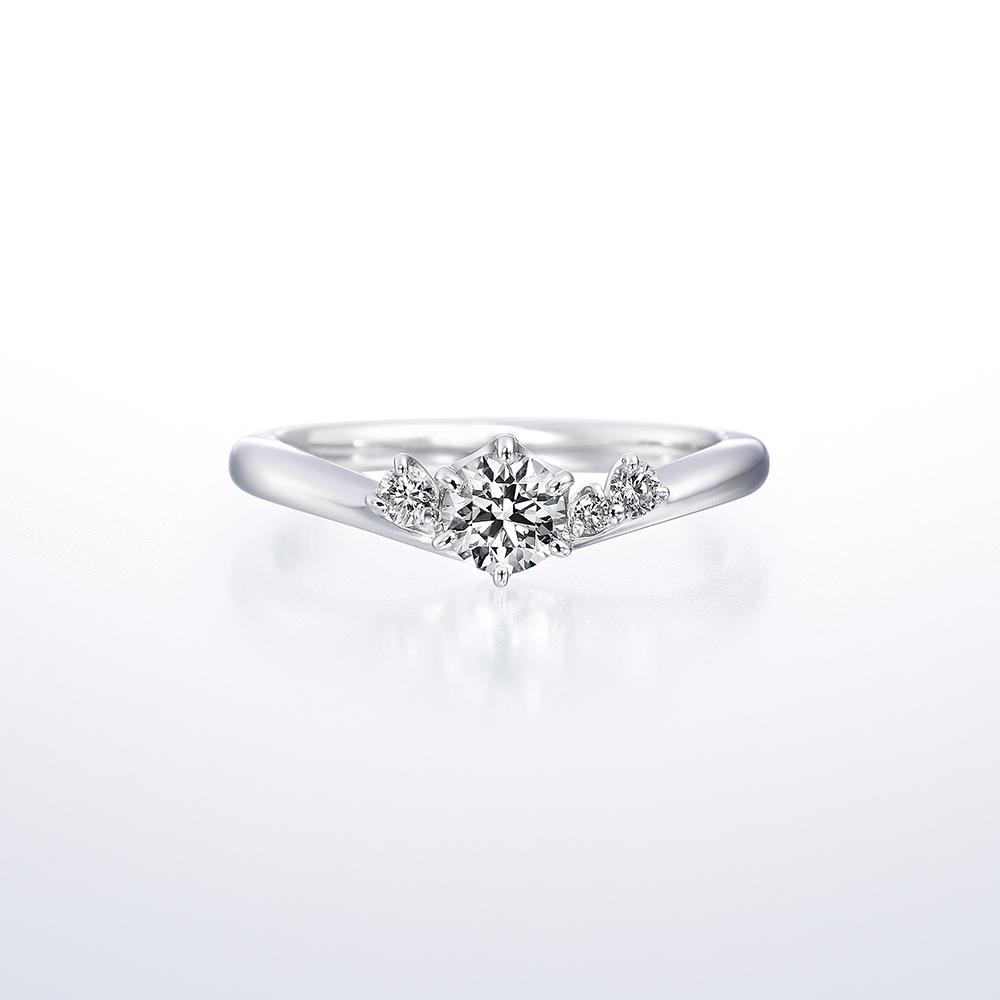 鑽石戒台樣式 - V型款