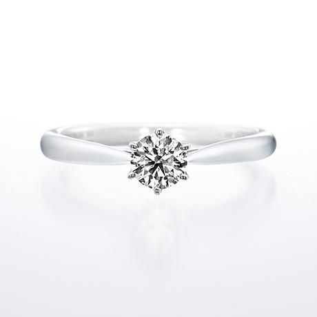 求婚/訂婚鑽戒 Saint glare,有陽光透過玻璃帷幕灑落教堂聖壇,充滿祝福的聖潔光輝之意向。