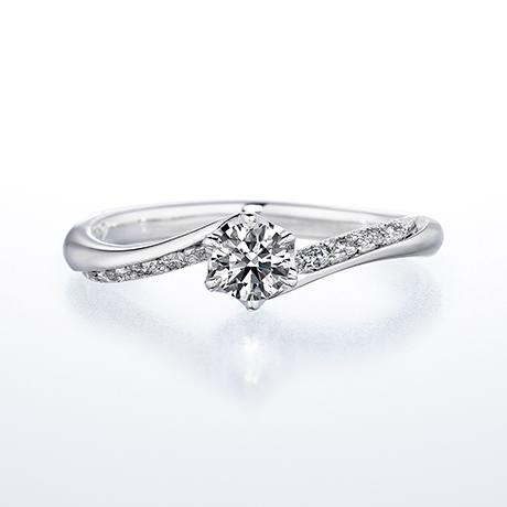 求婚/訂婚鑽戒 Smiling Little Lily,為散發柔和氛圍的波浪型款式