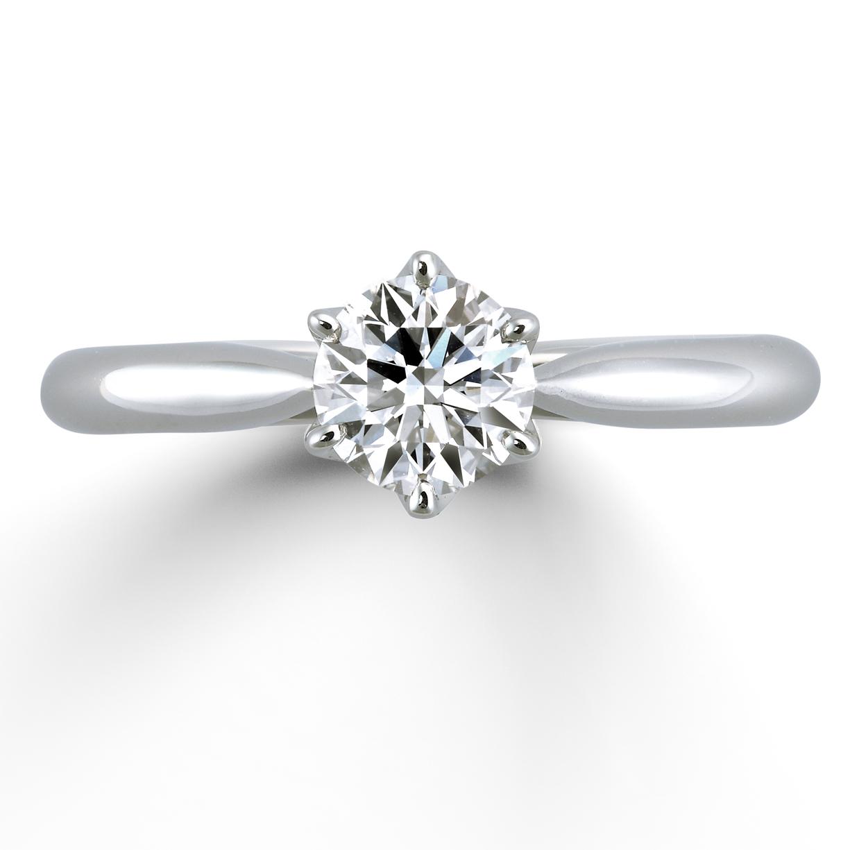 嚴格的基準中所被選定的鑽石作為訂婚戒指