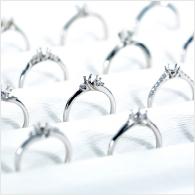 訂婚戒指或結婚戒指示意圖